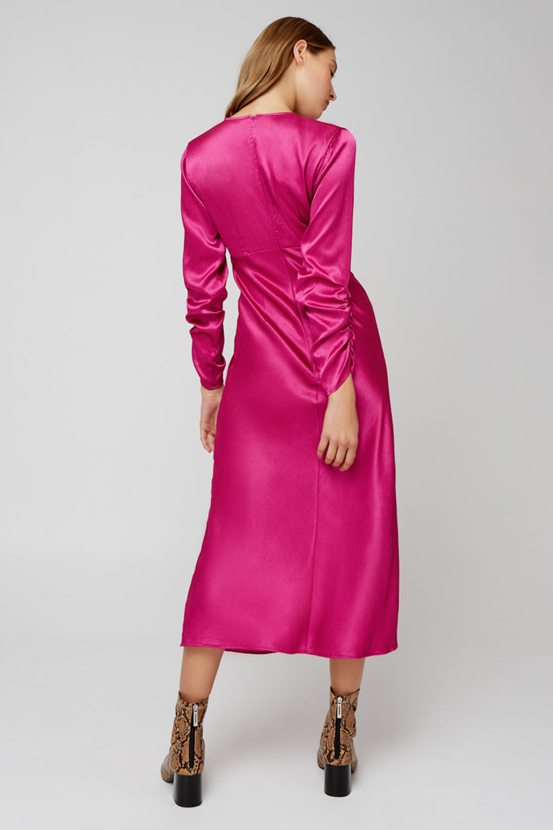 The-Fifth-Label-UNIVERSE-MIDI-DRESS-FUCHSIA