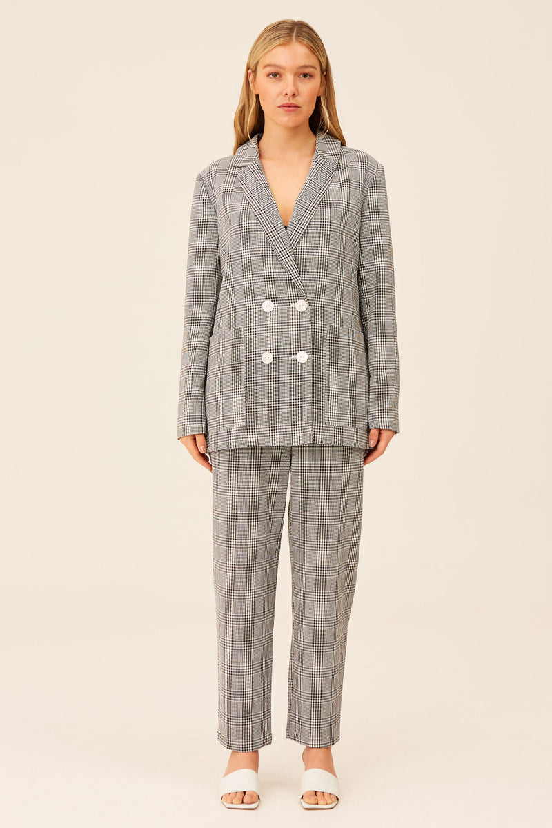 THE-FIFTH-LABEL-RELEASE-BLAZER-BLACK-WITH-WHITE-CHECK