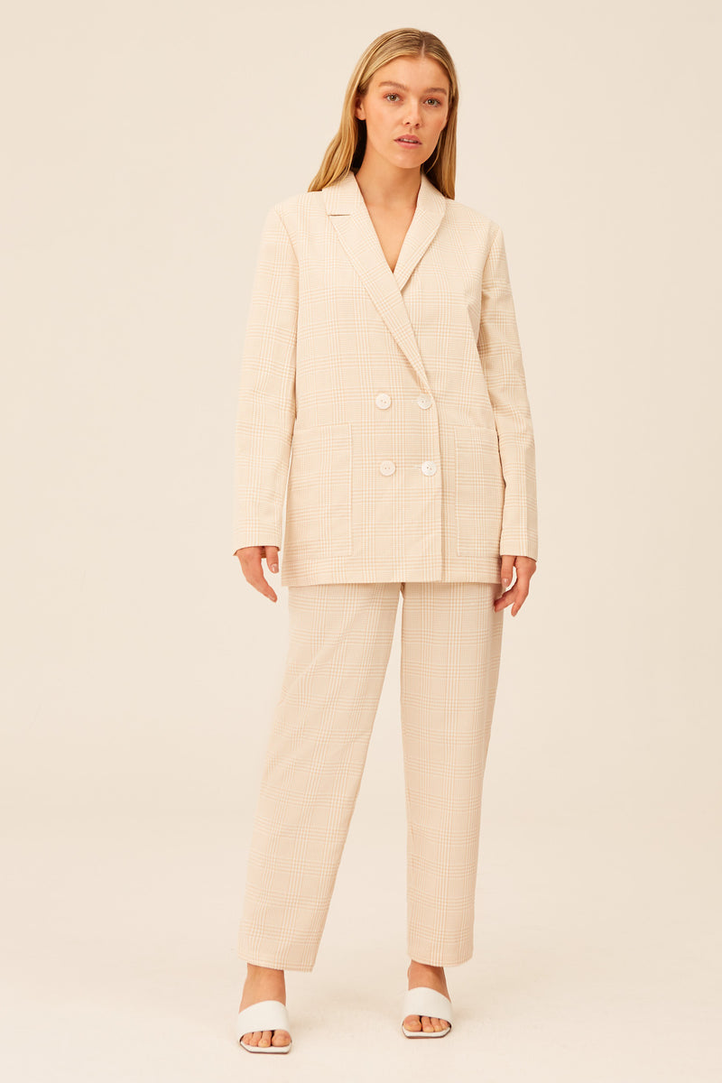 THE-FIFTH-LABEL-RELEASE-BLAZER-SAND-WITH-WHITE-CHECK