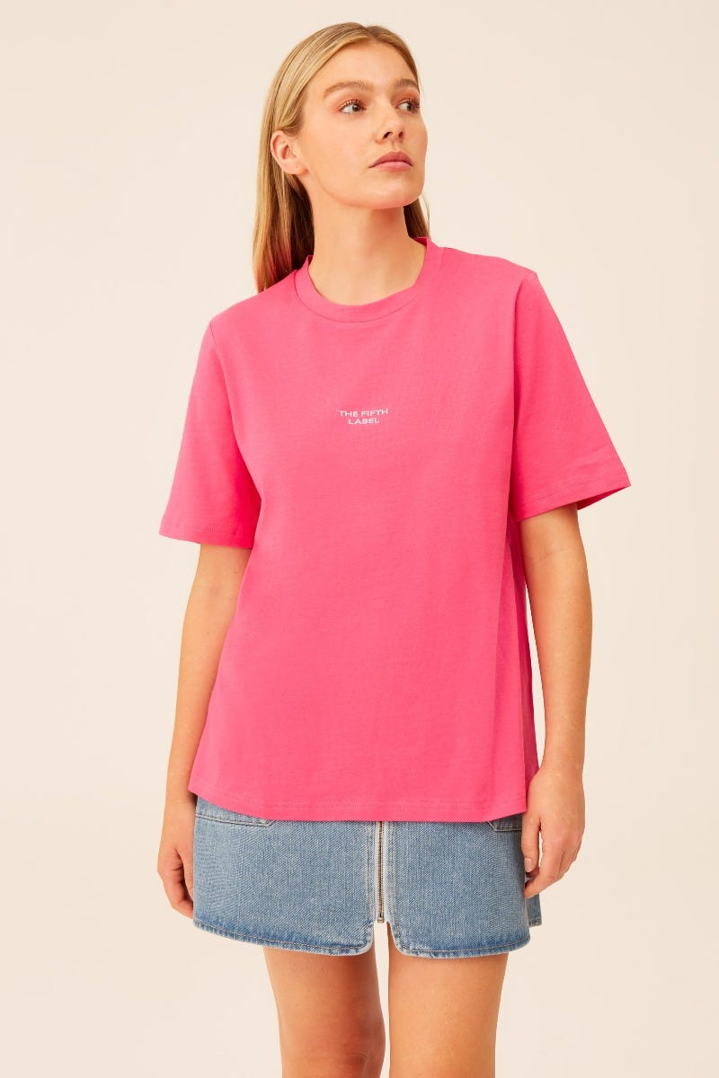 THE-FIFTH-LABEL-SCHEDULE-T-SHIRT-BRIGHT-PINK