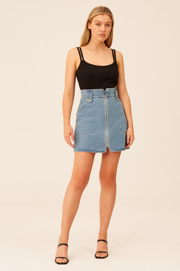 THE-FIFTH-LABEL-PENALTY-SKIRT-STONE-BLUE