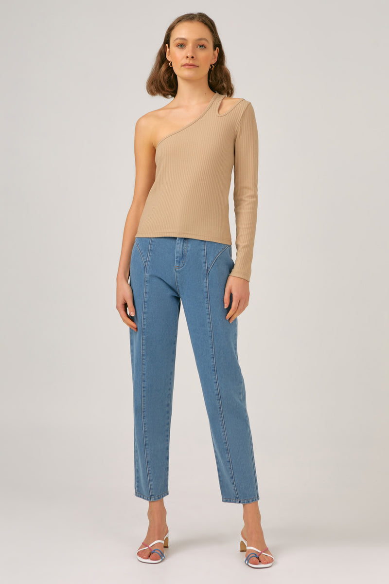THE-FIFTH-LABEL-ODETTE LS-TOP-LIGHT-TAN