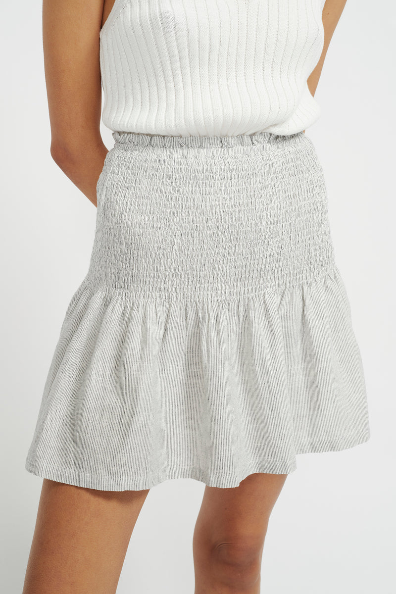 STAPLE-THE-LABEL-ADRIFT-MINI-SKIRT-WHITE/NAVY-STRIPE