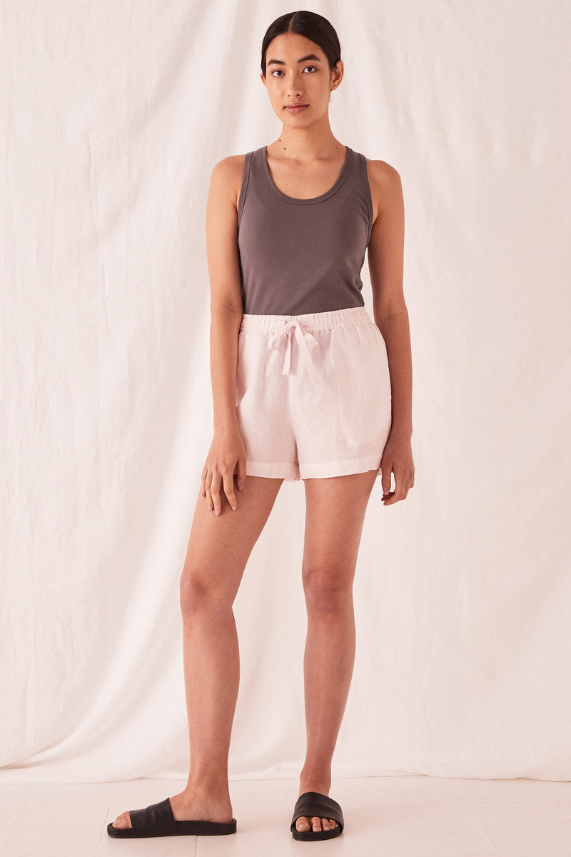 ASSEMBLY-THE-LABEL-Anika-Linen-Short-Pink-Dew