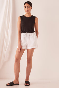 ASSEMBLY-THE-LABEL-Anika-Linen-Short-White