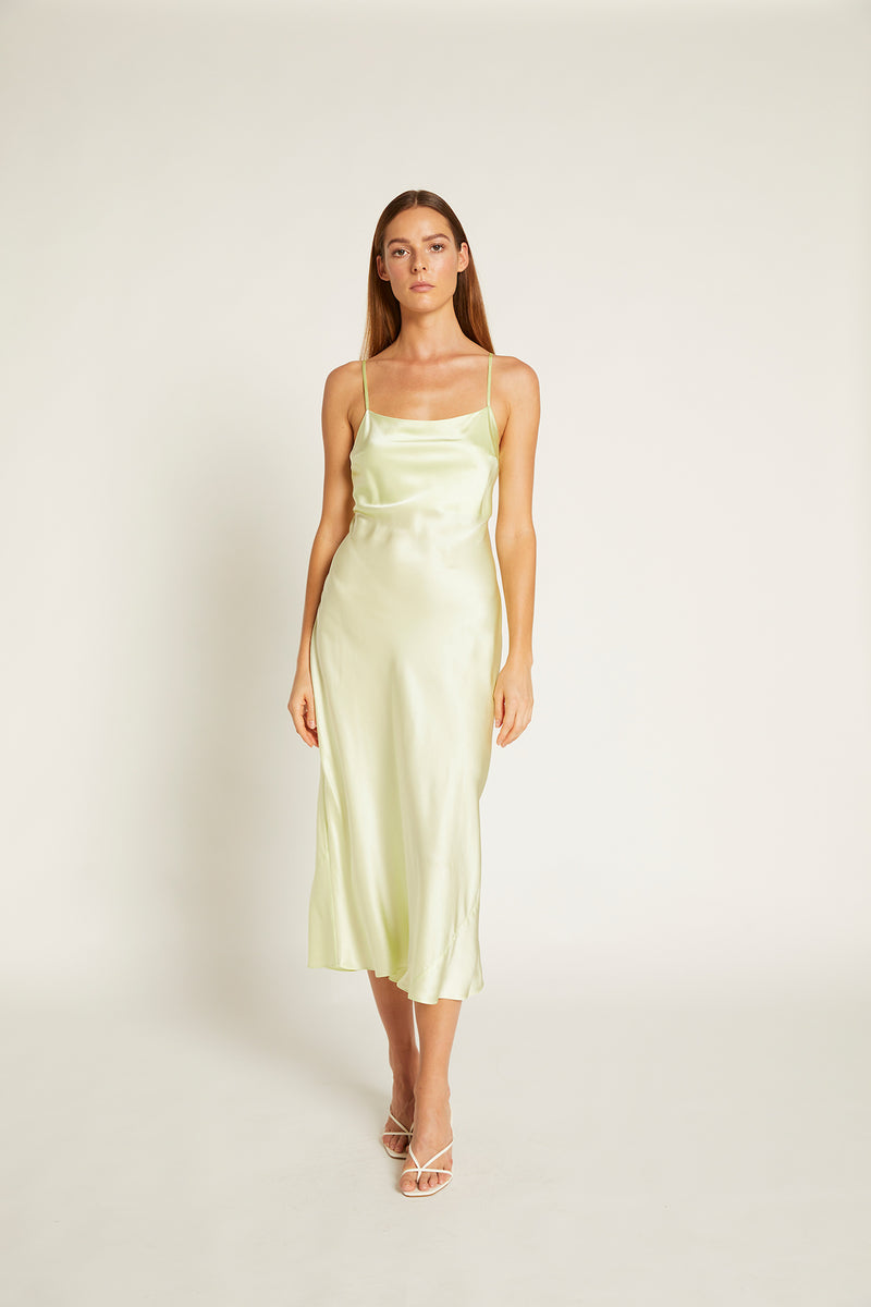 Ginia-Blaire-Dress-Lime-Creme