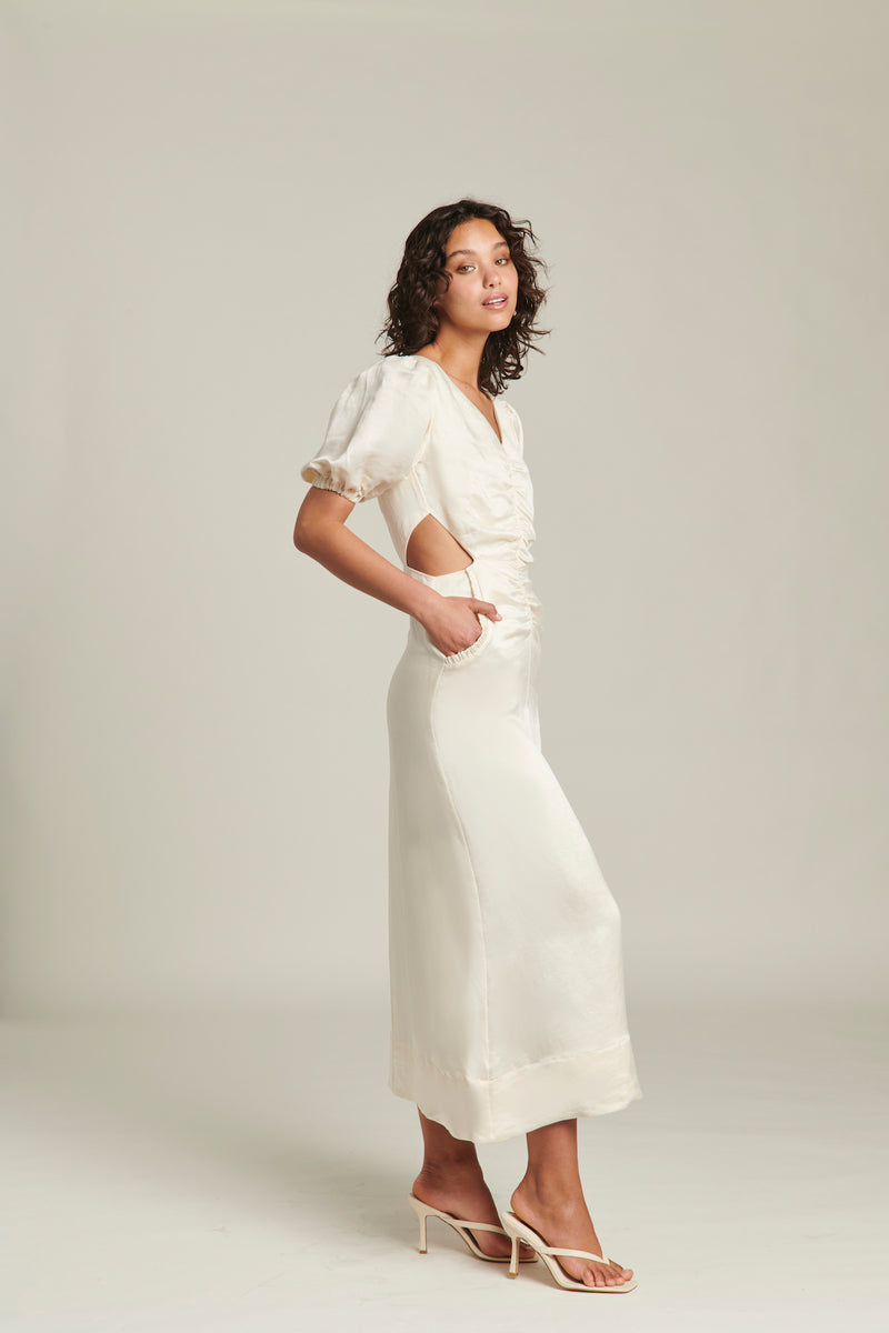 GINIA-INDIENNE-SILK-LINEN-MIDI-DRESS-PEARLED-IVORY