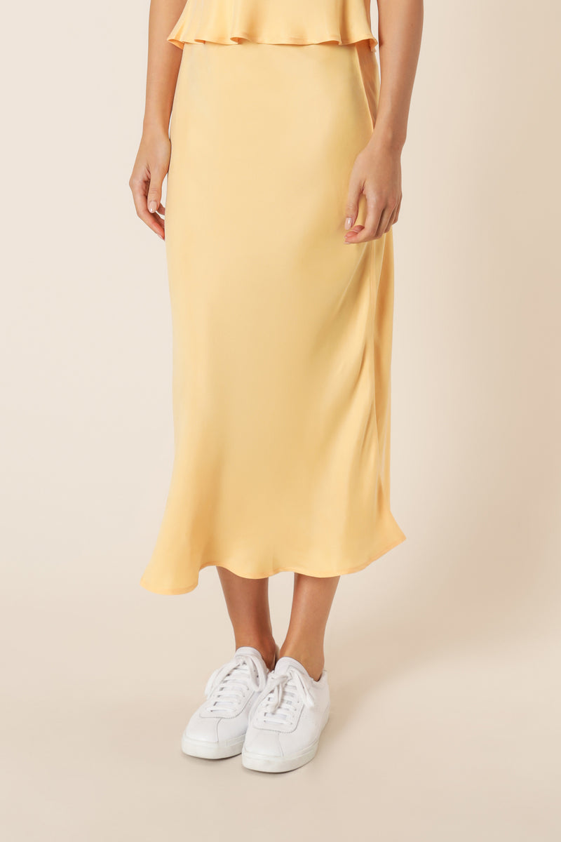 REESE-CUPRO-MIDI-SKIRT-MELON-NUDE-LUCY