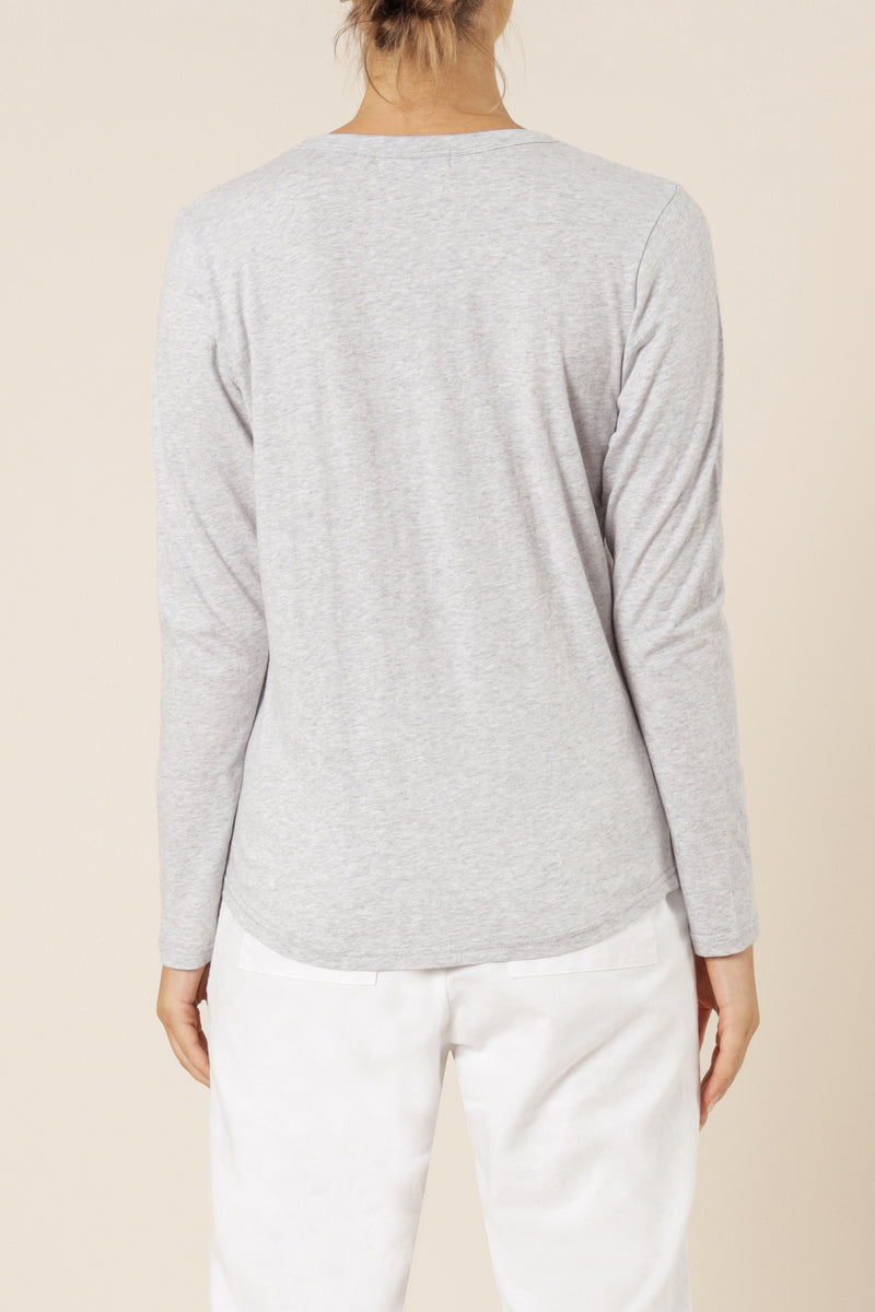 NUDE-LUCY-AVA-LONG-SLEEVE-GREY MARLE