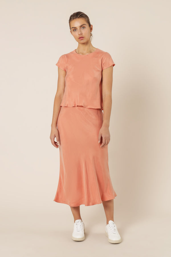 NUDE-LUCY-REESE-CUPRO-MIDI-SKIRT-TERRACOTTA