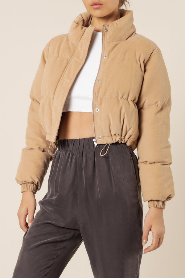 NUDE-LUCY-RODIE-CROP-CORD-PUFFER-DEEP-SAND