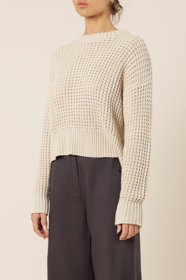 NUDE-LUCY-EDEN-WAFFLE-KNIT-JUMPER-OFF-WHITE