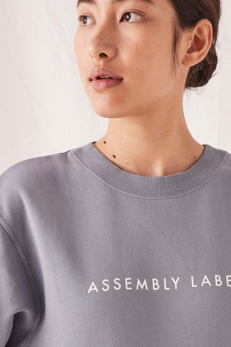 ASSEMBLY-LABEL-LOGO-FLEECE-STEEL-BLUE