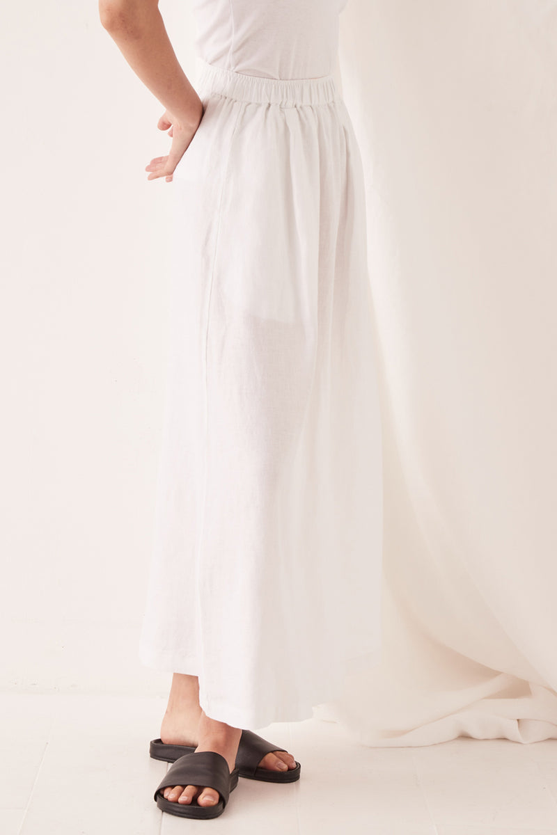 ASSEMBLY-THE-LABEL-Noma-Linen-Skirt-White