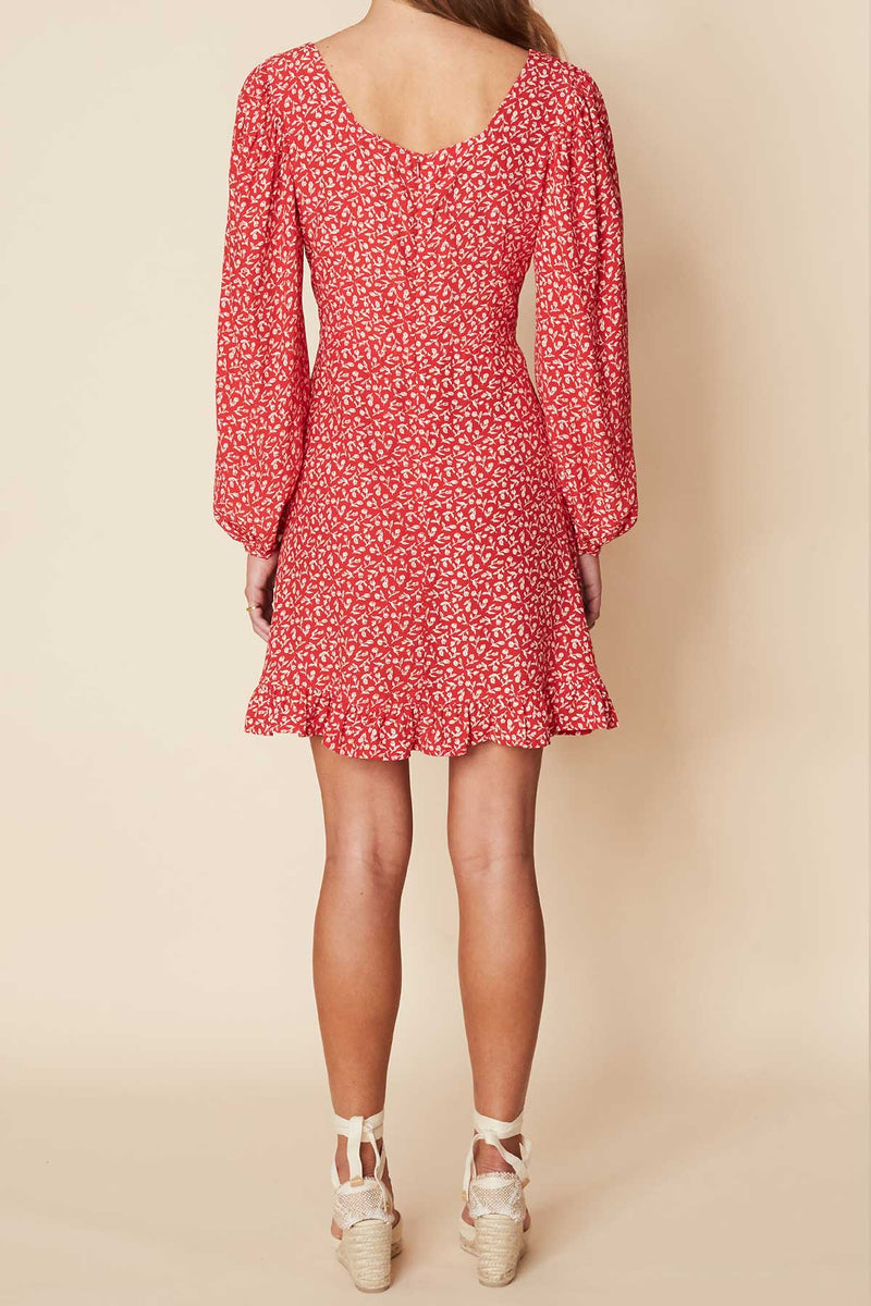 CALLA-MINI-DRESS-MADDY-FLORAL-PRINT-VINTAGE RED-FAITHFULL-THE-BRAND