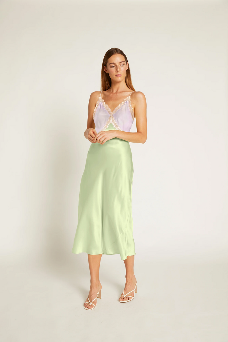 Sadie Dress - Lilac/Lime Creme
