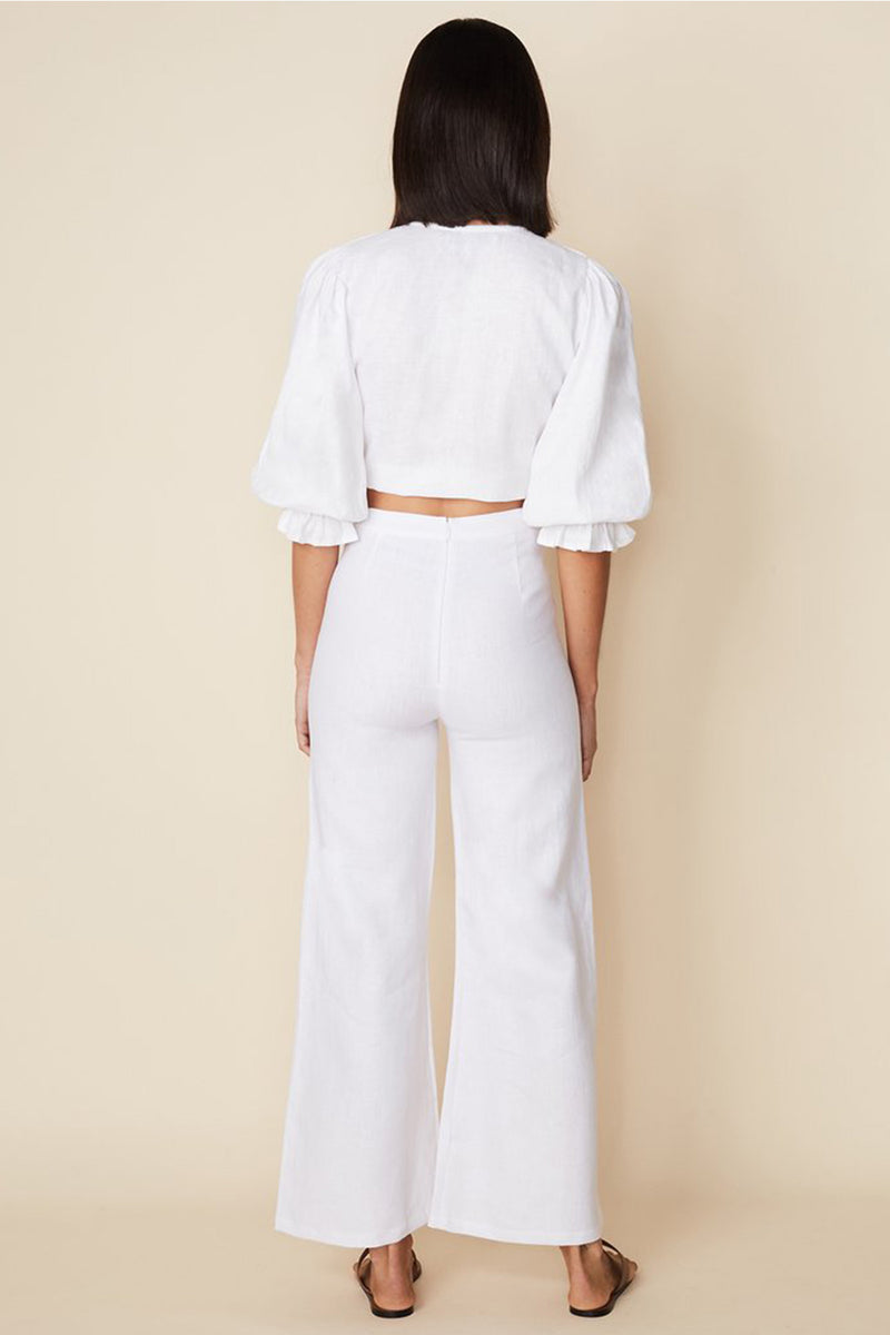 JACINTA TOP - PLAIN WHITE