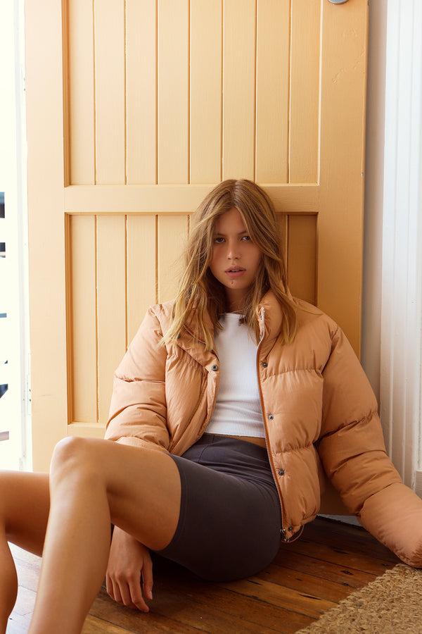 NUDE-LUCY-TOPHER-PUFFER-JACKET - BISQUE