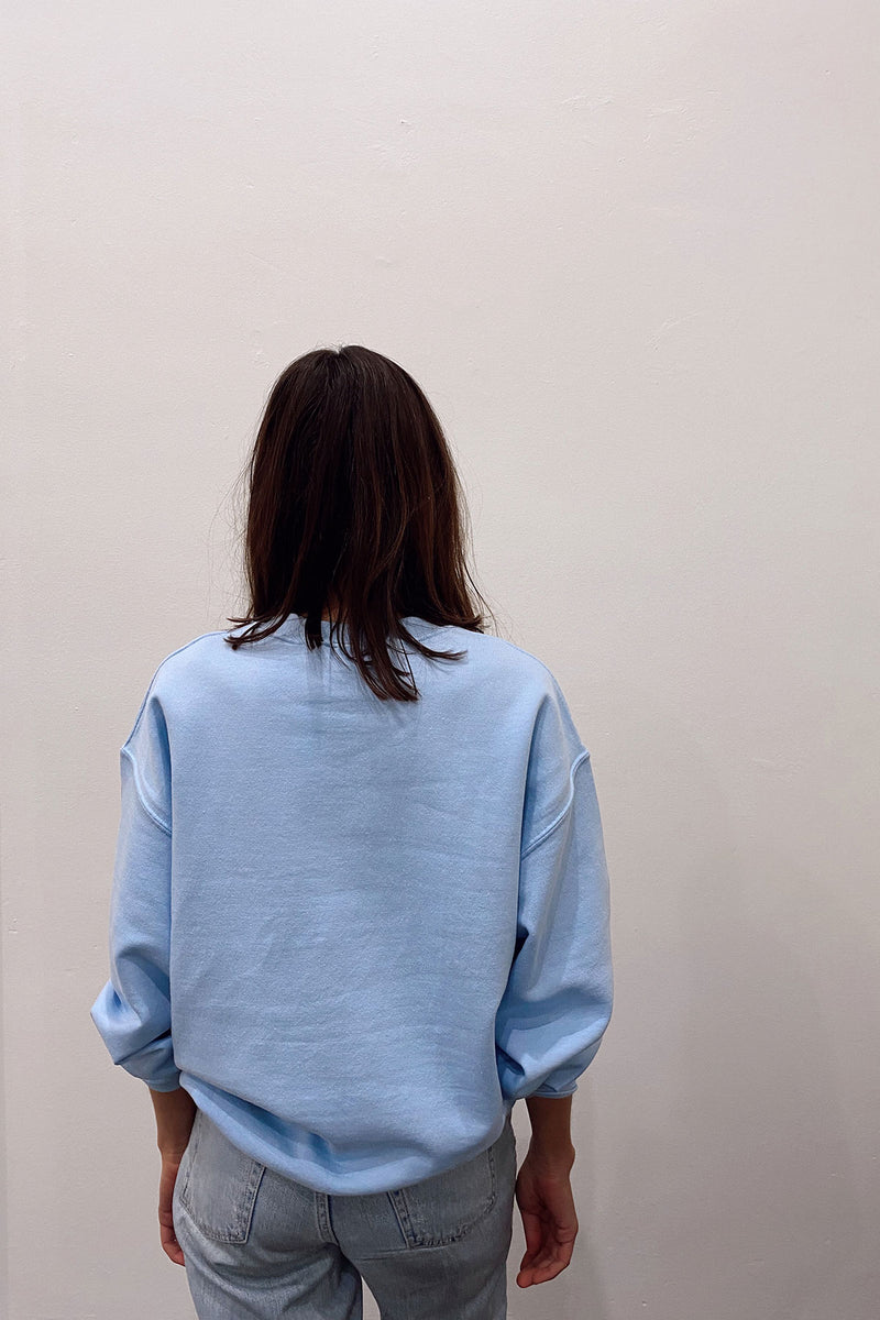 BE KIND SWEATER - BABY BLUE W/ WHITE