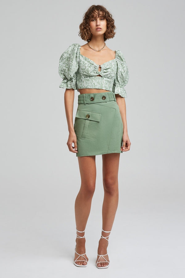 C/MEO COLLECTIVE PROPHETIC MINI SKIRT - IVY