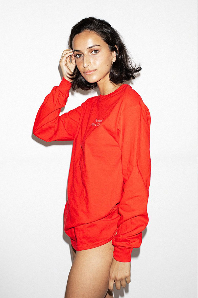 THE LONELY HEARTS CLUB LS TEE - RED W/ WHITE