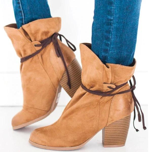 Women Fashion Pointed Toe Ankle Boots
