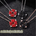 Full Diamond Two Side Lucky Four-Leaf-Clover Necklace