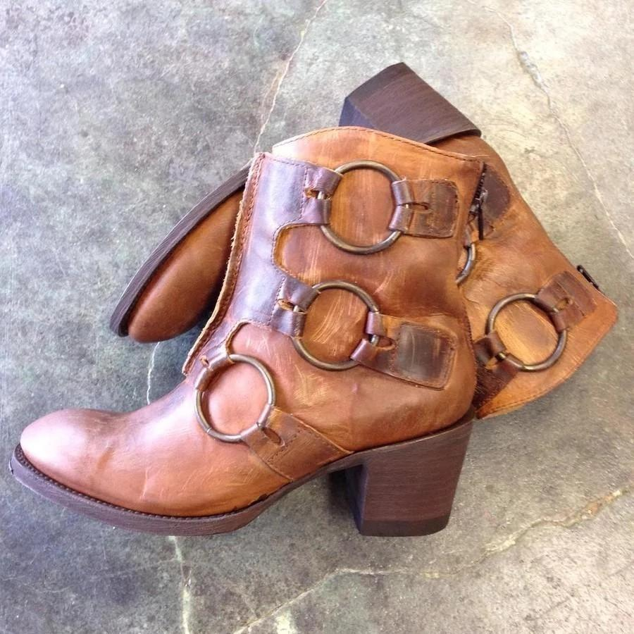 Vintage Casual Winter Ankle Boots