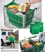 Foldable Shopping Bag Fabric Tote Bag Grocery Grab Bag Shopping Carrier