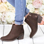 Fashion High-heeled Square Short Women's Boots