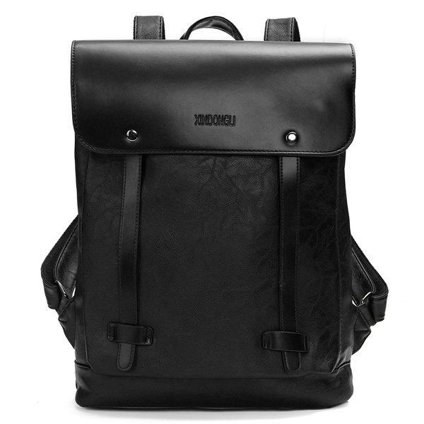 Vintage Backpack School Bag PU Leather Shoulder Bag Laptop Bag