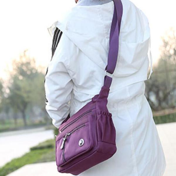 Multi-pocket Nylon Waterproof Shoulder Bag Crossbody Bag