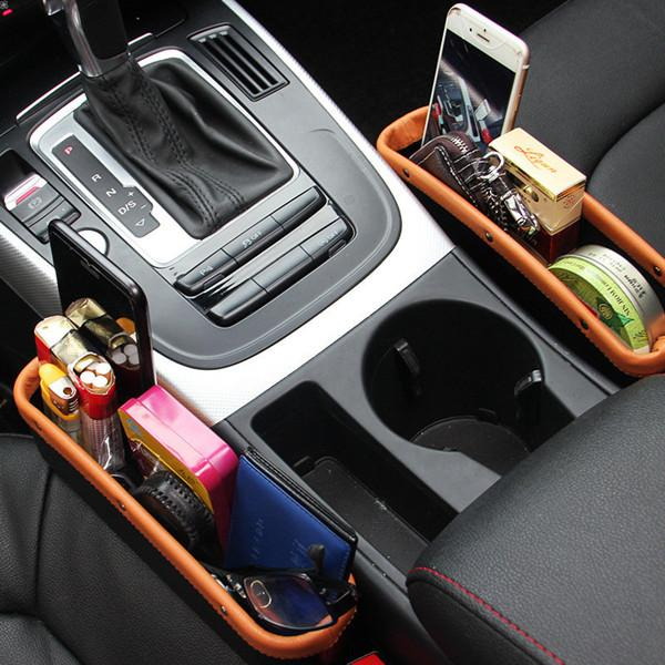 PU Leather Car Seat Storage Box Auto Seat Gap Pocket Organizer