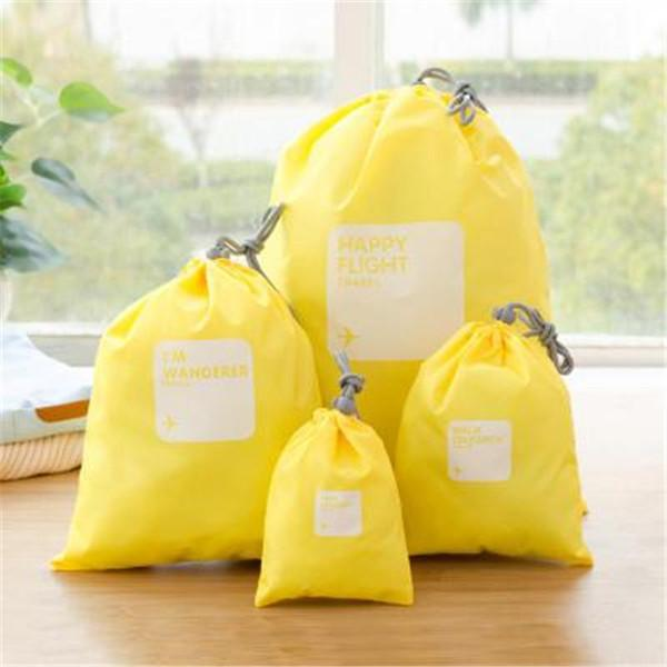 Casual 4 PCS Nylon Waterproof Storage Bag Travel Bag