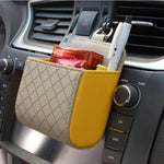 Multi-functional Car Storage Holder Faux Leather Phone Bag