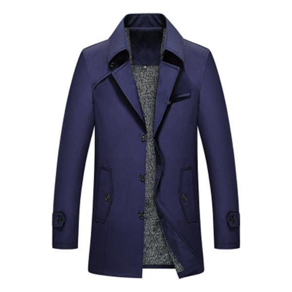 Thicken Breasted Trench Coat Warm Velvet Jacket
