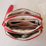 Water Resistant Multi-slot Clutch Bag Nylon Mini Crossbody Bag