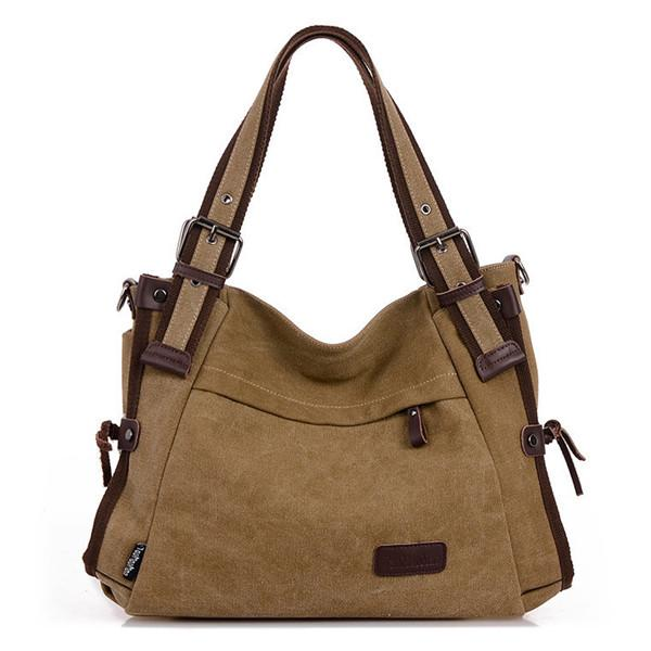 Canvas Casual Shoulder Bag Crossbody Bag Travel Handbag