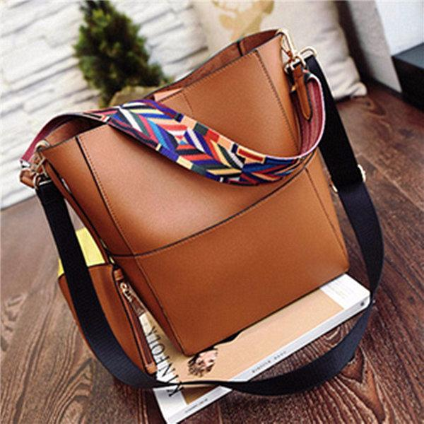 2pcs Crossbody Bag PU Leather Large Capacity Handbag