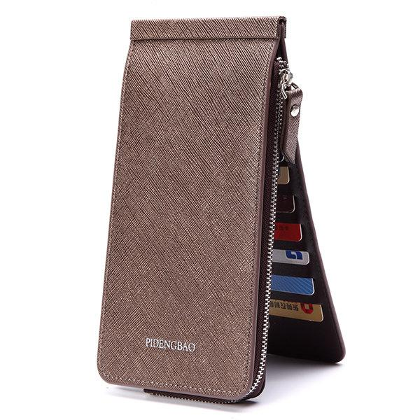Business 26 Card Slots 6.6 Inches Phone Bag Multi-slots Trifold Wallet