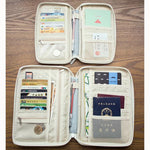 Multi-slots Travel Passport Holder Organizer ID Card Storage Bag