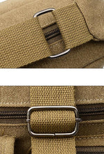 Canvas Multi Pocket Patchwork Crossbody Bag Travel Shoulder Bag