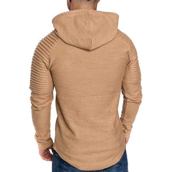 Irregular Hem Hooded Striped Fold Raglan Sleeve O-neck Sweatshirt