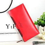 Oil Leather Ultrathin Wallet Bright PU Leather Purse Wallet