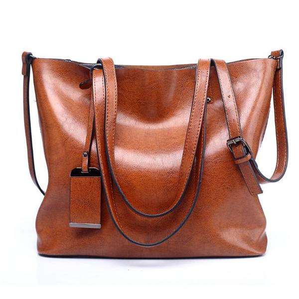 Women PU Leather Handbag Retro Crossbody Bag