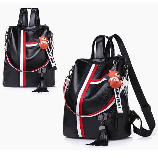 Women's Backpack Stylish Color Block Large Capacity Bag