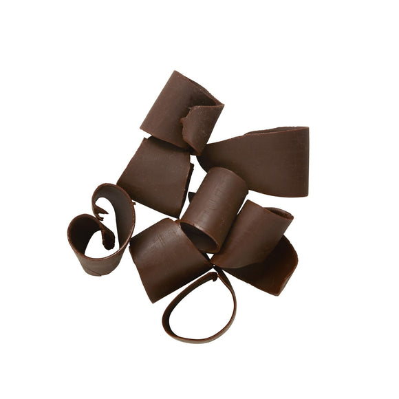 Dark Curled Chocolate Shavings Medium