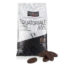 VALRHONA DARK EQUATORIALE NOIRE 55% Grand Cru Blend