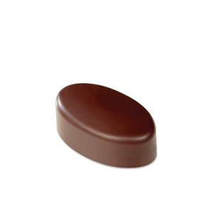 Pavoni Polycarbonate Chocolate Mold, Smooth Oval 21 Cavities