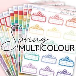 SPRING Multicolour Collection | Multicolour Functional Stickers